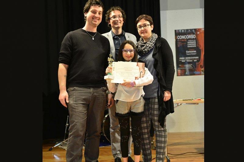 Sara Andrizzi primo premio canto